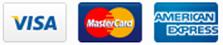 Visa, Master Card, American Express,